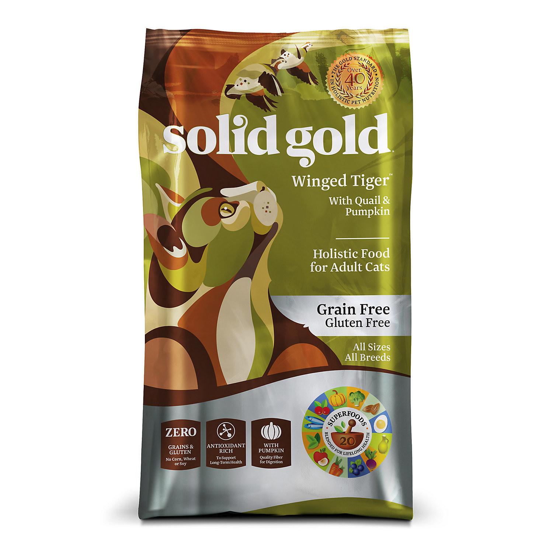Solid Gold Winged Tiger Grain-Free Quail & Pumpkin Dry Cat Food, 3 Lb (5/19) (A.J1)