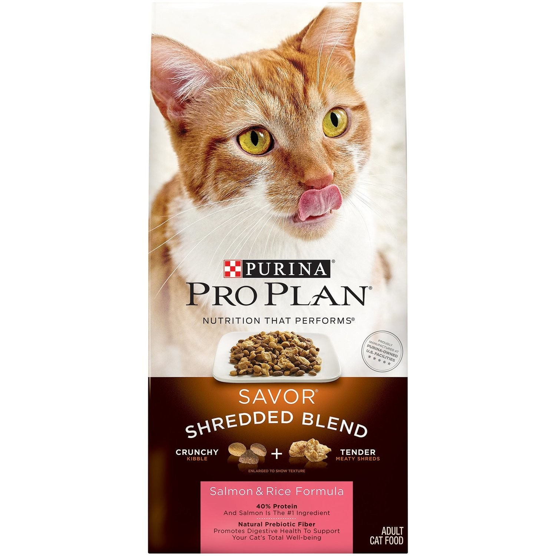Pro Plan Savor Shredded Blend Salmon & Rice Adult Cat Food, 6 lbs.(4/20)