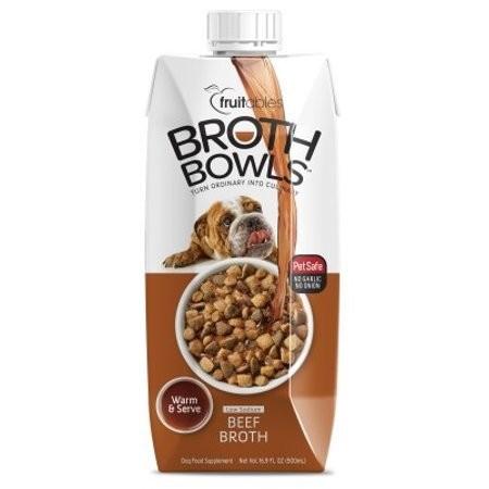 Fruitables Broth Bowls Beef Dog Supplement Tub, 16.9 Oz (3/19) (A.O2)