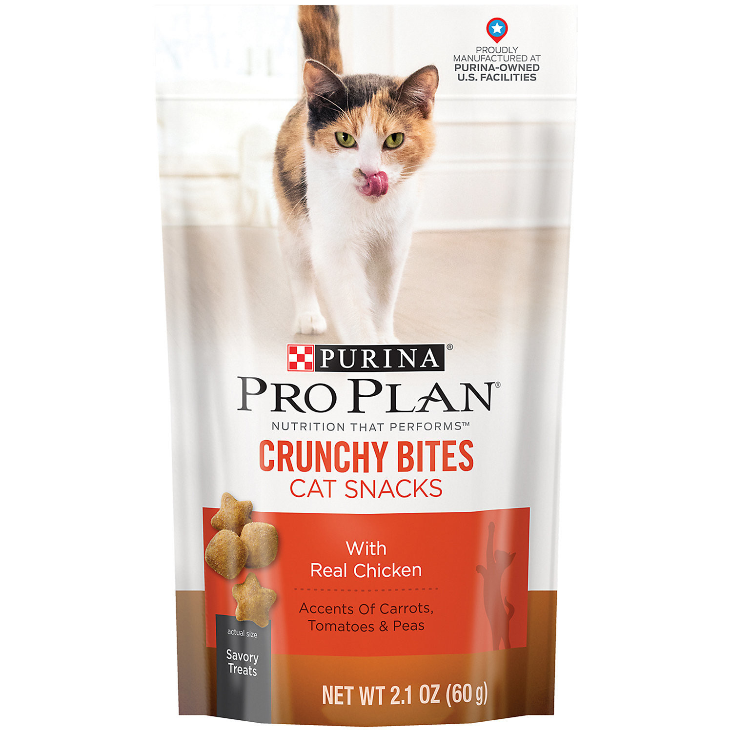 Purina Pro Plan Crunchy Bites with Real Salmon Dry Cat Treats, 2.1 Oz. (5/19) (T.B8)