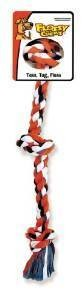 "Mammoth Flossy Chews Color Rope Bones 3 Knot SMALL 15"" **Picture is for representation only**"