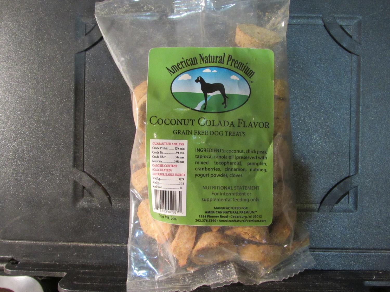 American Natural Coconut Colado Flavor GF Dog Treat (A.C2)