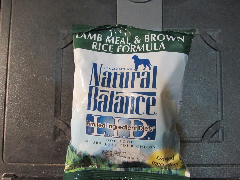 Natural Balance Lamb & Brown Rice LID Dog 4 oz (11/18) (A.P3)