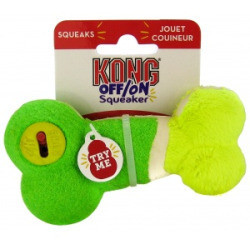 Kong Off/On Squeaker - Bone: Small  Squeaky Dog Toys, Colors Vary