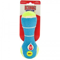 KONG Off/On Squeaker Rattle for Dogs, Medium, Colors Vary