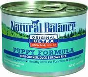 Natural balance original formula whole body holds puppy formula with chicken duck and brown rice 6 ounces1 COUNT (9/17)
