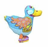 "Petstages Madcap Splashin Fashion Duck Dog Toy 6"" Multicolored (B.C8/AM15)"
