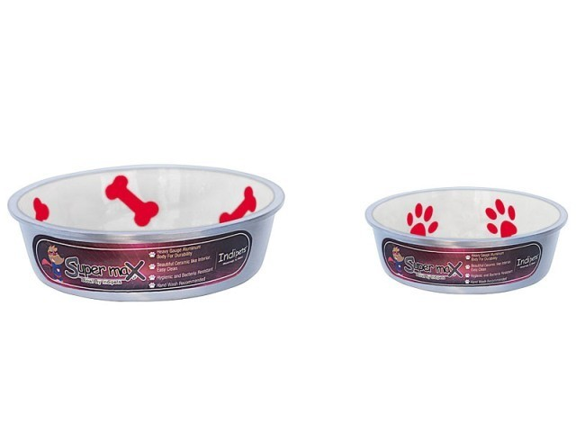 Robusto Bowls Rubber Base Skid Free Low Noise Spill Preventing Dishwasher Safe - Medium Cat or Dog Bowls Ivory (B.D12/PR/AM7/BOWL)