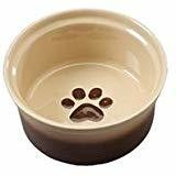 Two Tone Sahara Dish for Dogs, 5-Inch, Tapioca/Nutmeg (B.D8/PR/BOWL)