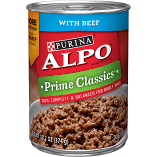 Purina Alpo Prime Classics Beef Wet Food 13.2 OZ 12 COUNT ( 8/17) (A.L3)