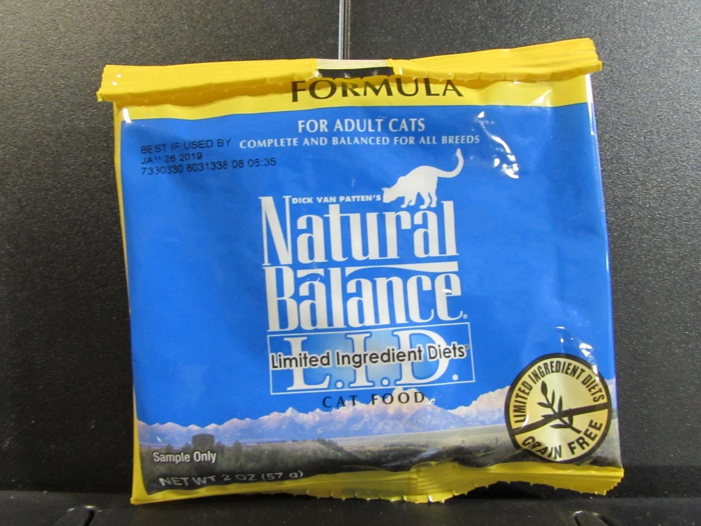 NATURAL BALANCE LID ADULT CAT FOOD DUCK & PEAS 2 OZ (1/19) (A.P6)