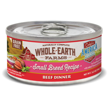 **BOGO** Merrick Whole Earth Farms Grain-Free Small Breed Beef Stew for Dogs 3.2 oz 24 count (2/19) (A.M7)