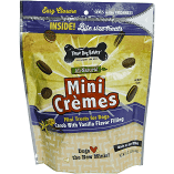 THREE DOG BAKERY ALL NATURAL MINI CREMES CAROB W/VANILLA FLAVOR 8 OZ ((6/19)