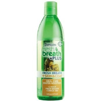 Tropiclean Fresh Breath Plus Skin & Coat Water Additive 16 oz. (O.A1/V5/X5/W5)