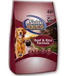 Nutrisource Beef & Brown Ride Dry Dog Food 22% /13% 5 lbs (3/19) (A.N8)