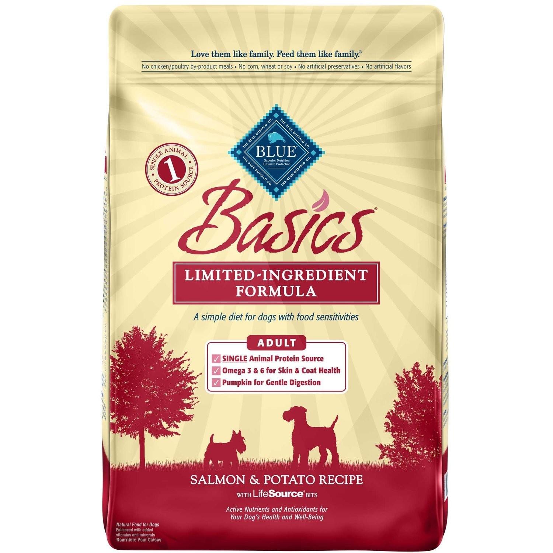 Blue Buffalo Basics Adult Salmon & Potato Recipe Dry Dog Food 24 lbs