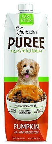 **SALE** Fruitables Natural Puree Pumpkin Supplement Food Dog Fiber 33 FL OZ FOR DOGS (6/19) (O.U4)