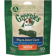 GREENIES DENTAL TREATS HIP  JOINT PETITE 15-25 LBS 10 COUNT (6/19) (T.C1)