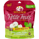 WELLNESS GF PETITE TREATS SOFT MINI-BITES LAMB, APPLES & CINNAMON 6 OZ (6/19) (T.A8/A9)
