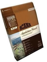 ACANA Appalachian Ranch Dry Cat Food with ranch-raised red meats and freshwater catfish complete food for cats all life stages 4 LBS