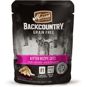 **BOGO** MERRICK BACKCOUNTRY GF REAL KITTEN RECIPE CUTS CHICKEN & DUCK IN GRAVY 3 OZ 24 COUNT (3/19) (A.D2/L3)