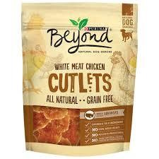 Purina Beyond White Meat Chicken Cutlets Natural Dog Snacks 2.7 oz. Pouch (9/18) (T.B2/DT)