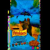 PURINA FRISKIES SEAFOOD SENSATIONS DRY CAT FOOD  3.15 LB (7/19) (A.E3)