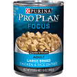 PURINA PRO PLAN ADULT FOCUS LARGE BREED CHICKEN & RICE ENTREE CHUNKS IN GRAVY 13 oz. 12 count (7/19) (A.L4)