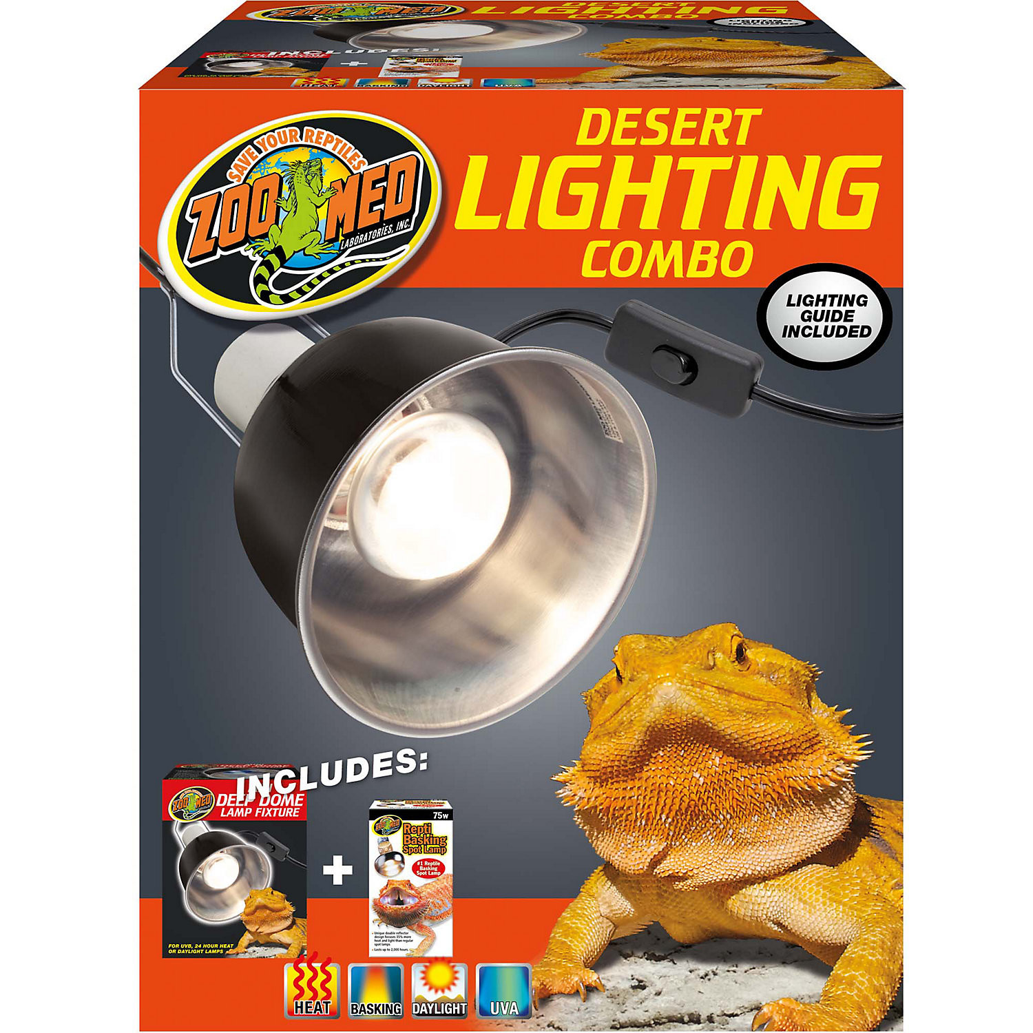 Zoo Med Desert Lighting Combo Pack, Pack of 2 bulbs (B.W4/AM6)