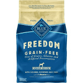 Blue Buffalo Freedom Senior Chicken Recipe Grain-Free Dry Dog Food 4 LBS.