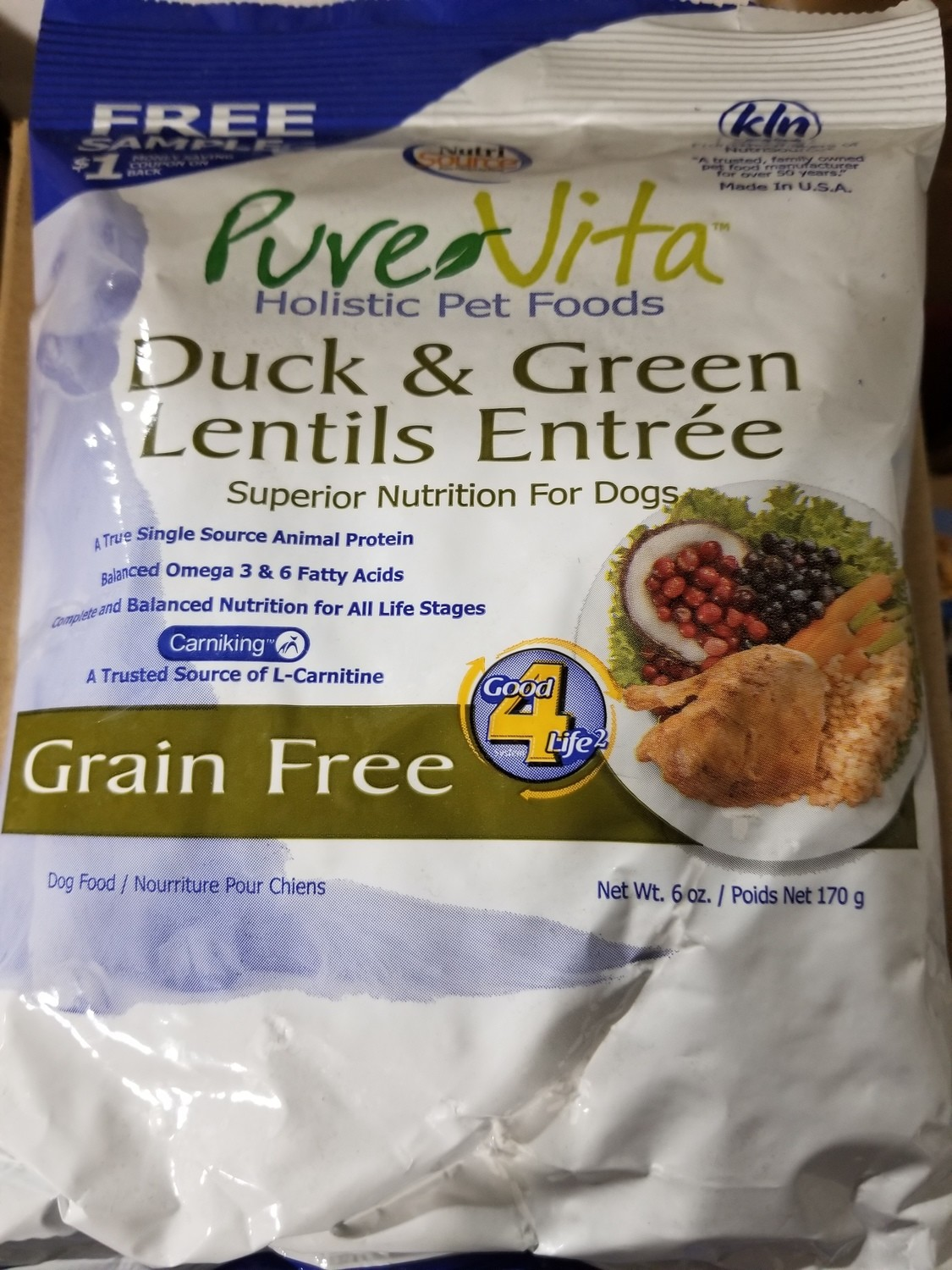 Pure Vita Duck & Oatmeal - Dog 6 oz (6/18) (A.Q1)