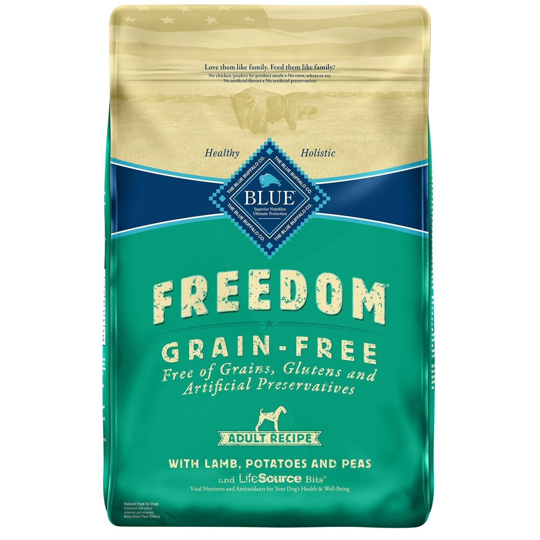 Blue Buffalo Freedom Grain Free Lamb Recipe Adult Dog Food, 24 lbs.