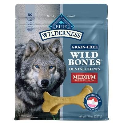 Blue Buffalo Wilderness Small Wild Bones Dog Dental Chews, 10 oz. (3/19) (T.F1)