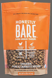 HONESTLY BARE SLOW COOKED TENDERS CHICKEN, PEAS & CARROTS RECIPE 16 OZ  (6/19) (T.SINGLES)