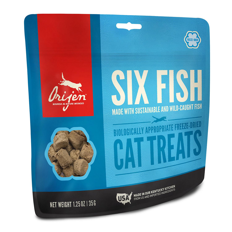 **BOGO** ORIJEN 6 Fish Freeze-Dried Cat Treats, 1.25 oz. (4/19)