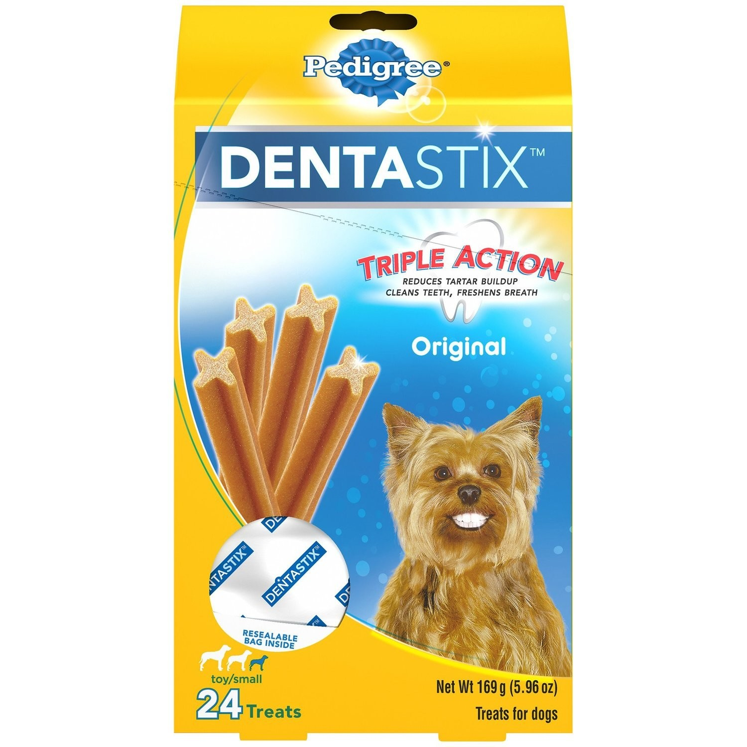 Pedigree Dentastix Mini Treat 6 oz  (2/19) (T.E13)