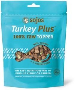 Sojos Turkey 100% Raw Grain-Free   Topper 4z (2/19) (T.C8/DT)