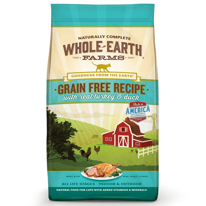Whole Earth Farms Grain Free Real Turkey & Duck Cat Food, 2.5 lbs. (7/19) (A.N5)