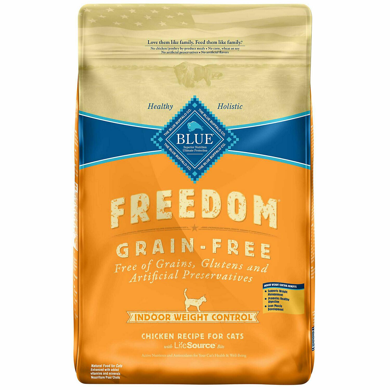 Blue Buffalo Freedom Weight Control Grain-Free Chicken Indoor Adult Cat Food, 11 lbs