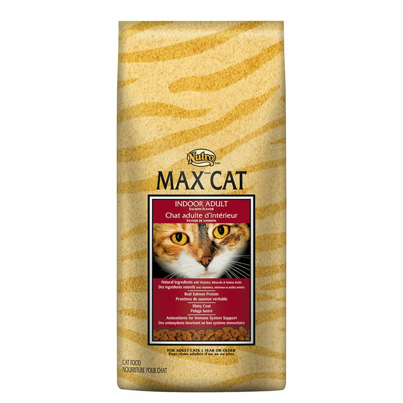 Nutro MAX CAT Indoor Adult Cat Food - Salmon Flavor 6 lbs (8/19) (A.J2)