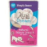 Purina Muse Creatables Simply Sauce Natural Salmon Gravy with Spinach Lickable Cat 1.4 oz 14 pouches (9/19) (A.K3)