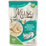 Purina Muse Natural Chicken Recipe with Anchovies in Broth Wet Cat Food 1.76 oz 16 count (9/19) (A.K4/CW)