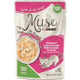 Purina Muse Natural Tuna Recipe with Shrimp in Broth Wet Cat Food 1.76 oz 16 pouches (9/19) (A.K3/CW)