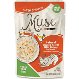 Purina Muse Natural Chicken Recipe with Shrimp in Broth Wet Cat Food 1.76 oz x 16 pouches (9/19) (A.L3)