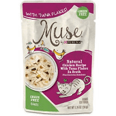 Purina Muse Natural Chicken Recipe with Tuna Flakes in Broth Wet Cat Food 1.76 oz 16 Pouches (8/19) (A.K3)