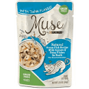 Purina Muse Natural Ocean Fish Recipe with Carrots & Tuna Flakes in Broth Wet Cat Food, 1.76-oz 16 pouches (9/19) (A.L3)