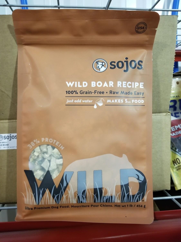 Freeze-dried Sojos 1 Wild Boar GF PREMIUM ADULT DOG FOOD (10/18)  (T.G2)