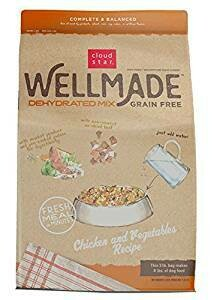 Cloud Star Wellmade Raw Dehydrated Dog Food Chicken & Vegetable 3 lbs MAKES 8 lbs (02/19) (A.O1)