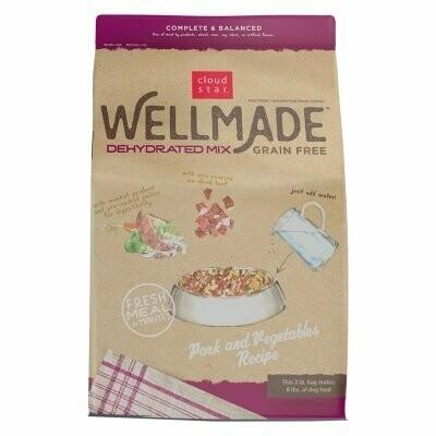 Cloud Star Wellmade Dehydrated Grain Free Mix Pork & Vege 3 Lb (02/19) (A.P8/DD)