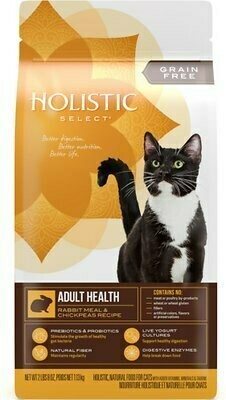 Wellpet Holistic Select Adult Health Rabbit Meal & Chickpeas Grain Free Dry Cat Food 2.5 lbs (02/19) (A.J4/CD)